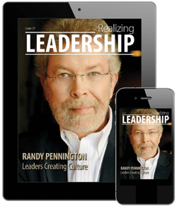 Check out Randy's latest comments in Realizing Leadership
